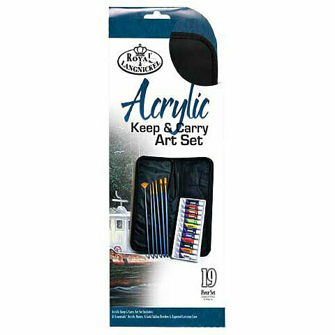 Royal Langnickel; Keep & Carry Acrylic Paint Set