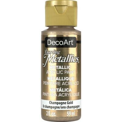 Decoart; Americana Acrylic Colors, Champagne Gold - 2 Oz. Bottle