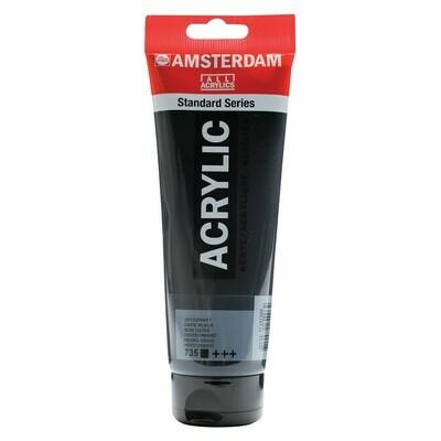 Amsterdam; Standard Acrylics, 250ml Tubes, Oxide Black