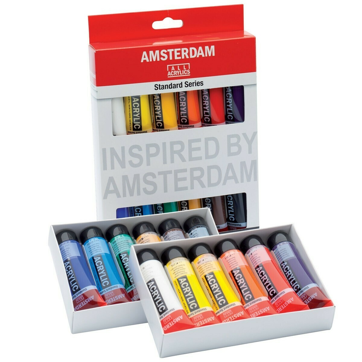 Amsterdam; Amsterdam Standard Series Acrylic Paint Sets, 12 Color Set