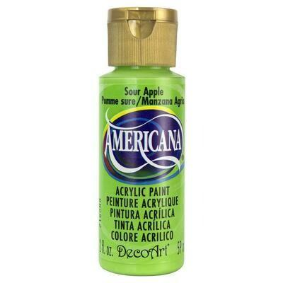 Decoart; Americana Acrylic Colors, Sour Apple - 2 Oz. Bottle