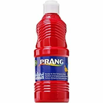 Prang; Washable Paint Red 16Oz