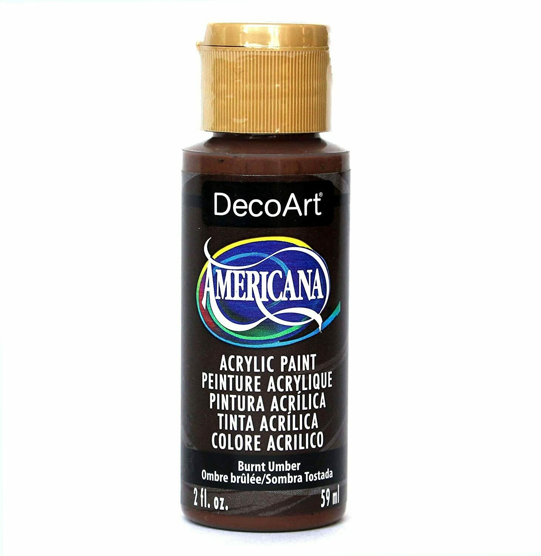 Decoart; Crafter's Acrylic Paint, 2 Oz. Bottles, Burnt Umber