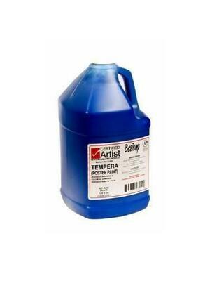 Certified Artist; Tempera Paint, Gallon Bottles - Regular Colors, Blue