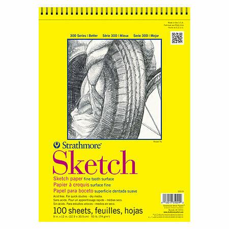 Strathmore; Sketch 300 11X14 Sprial Bound Sketchbook 100 Sheets