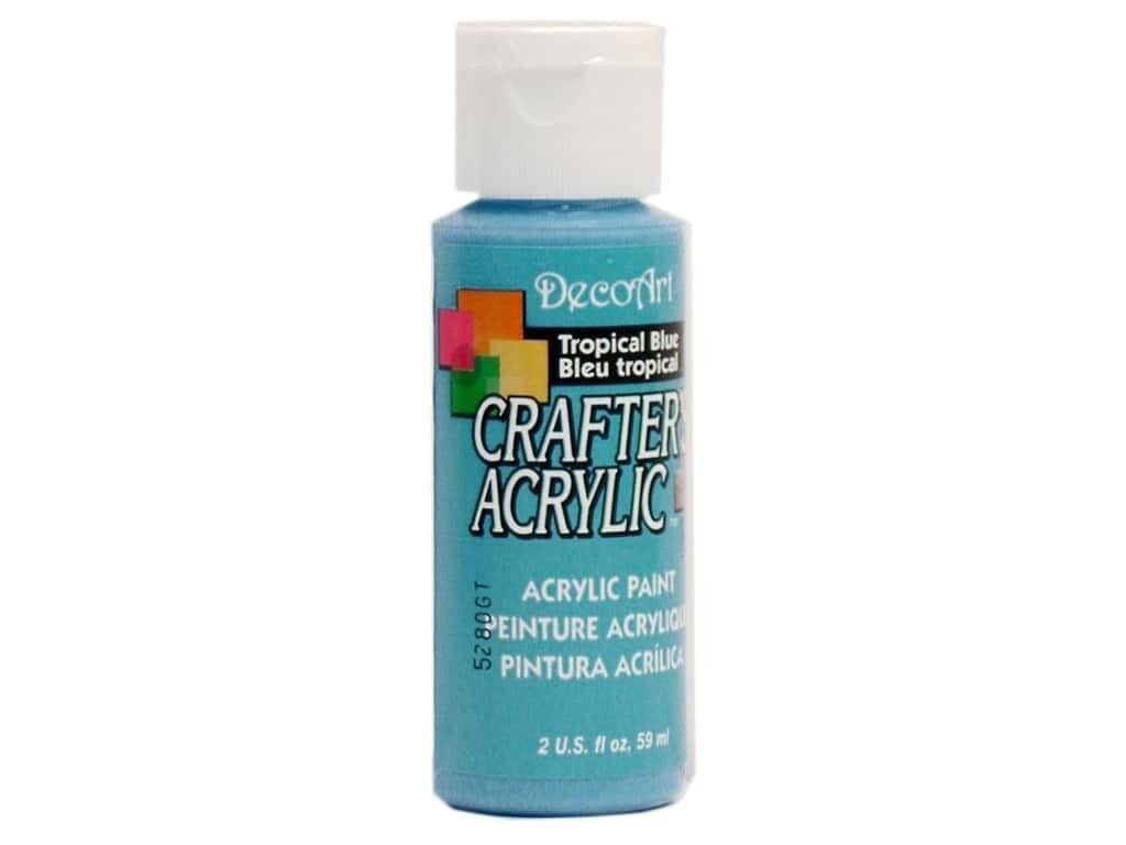 Decoart; Crafter's Acrylic Paint, 2 Oz. Bottles, Tropical Blue