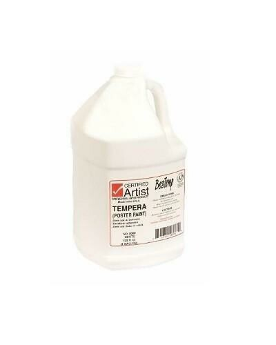 Certified Artist; Tempera Paint, Gallon Bottles - Regular Colors, White