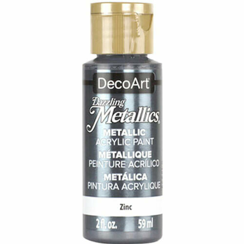 Decoart; Americana Acrylic Colors, Zinc - 2 Oz. Bottle