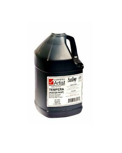 Certified Artist; Tempera Paint, Gallon Bottles - Regular Colors, Black
