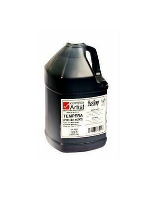 Certified Artist; Tempera Paint, Gallon Bottles - Regular Colors, Black