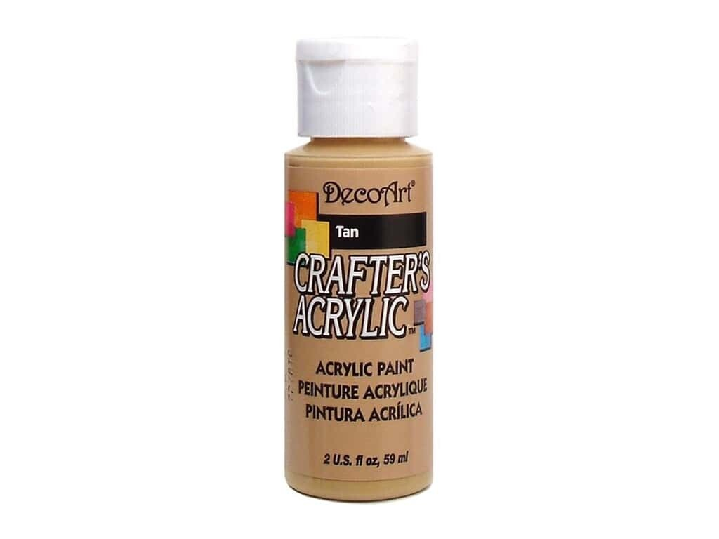 Decoart; Crafter's Acrylic Paint, 2 Oz. Bottles, Tan