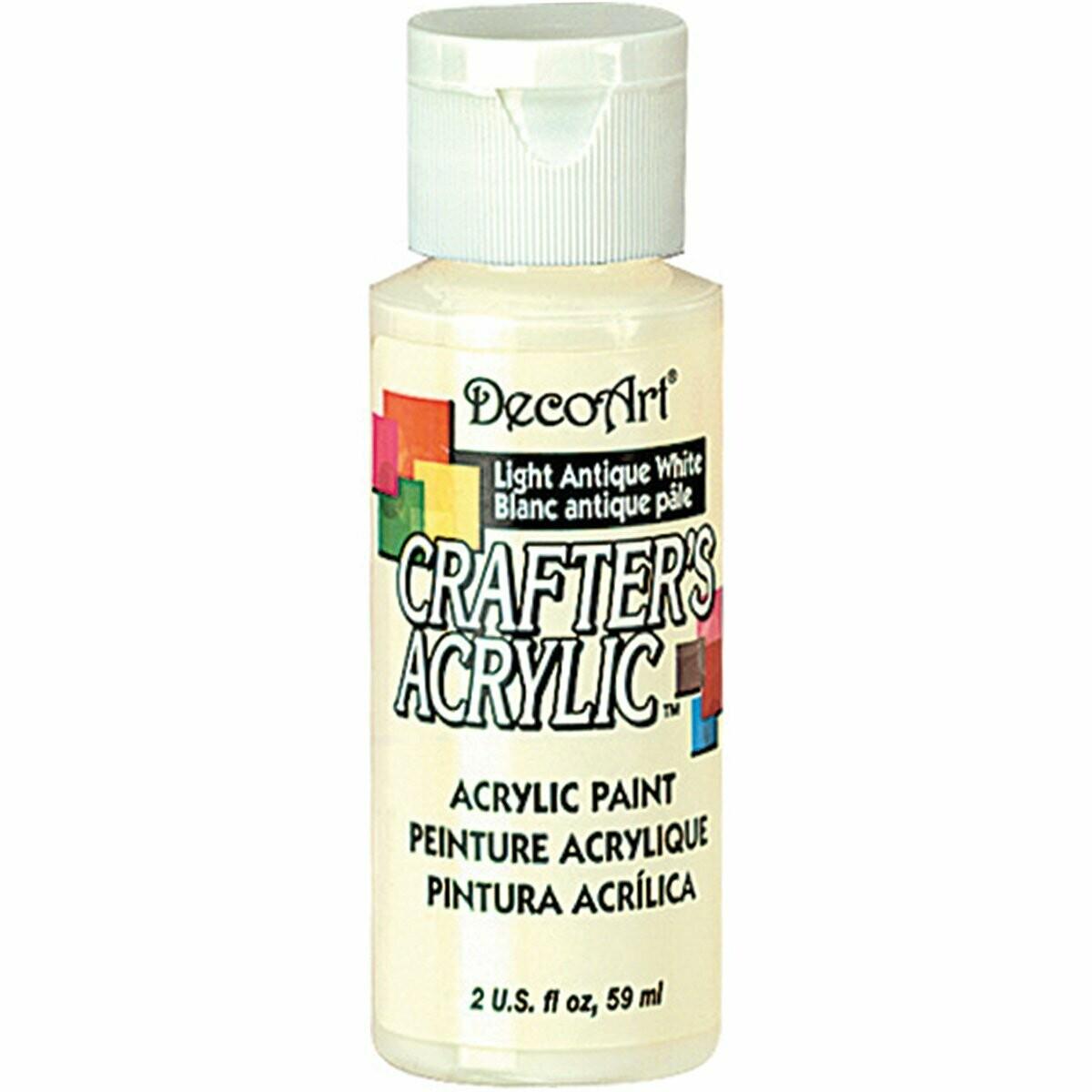Decoart; Crafter's Acrylic Paint, 2 Oz. Bottles, Antique White