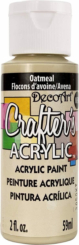Decoart; Crafter's Acrylic Paint, 2 Oz. Bottles, Oatmeal
