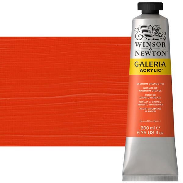 Winsor & Newton Galeria Acrylics, 60Ml Tubes, Cadmium Orange Hue