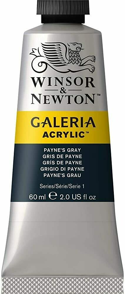 Winsor & Newton Galeria Acrylics, 60Ml Tubes, Paynes Grey