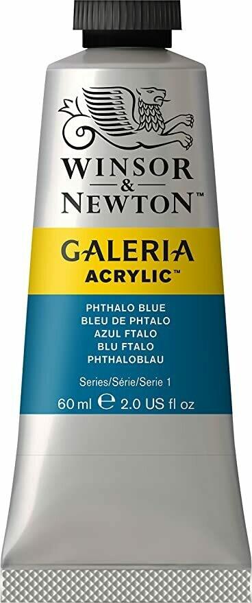Winsor & Newton Galeria Acrylics, 60Ml Tubes, Pthalo Blue