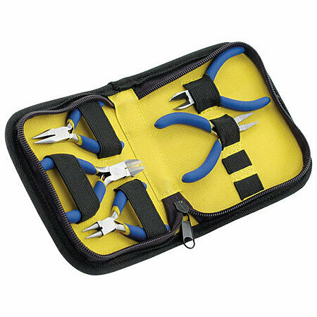 "Beadalon; 5-Piece Mini Tool Kit with Zip Pouch, 3"" Tools"