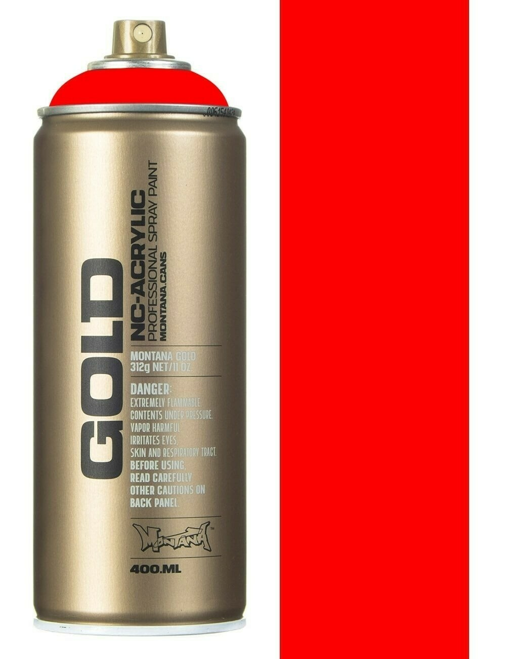 Montana; Gold Acrylic Spray Color, Fire Red