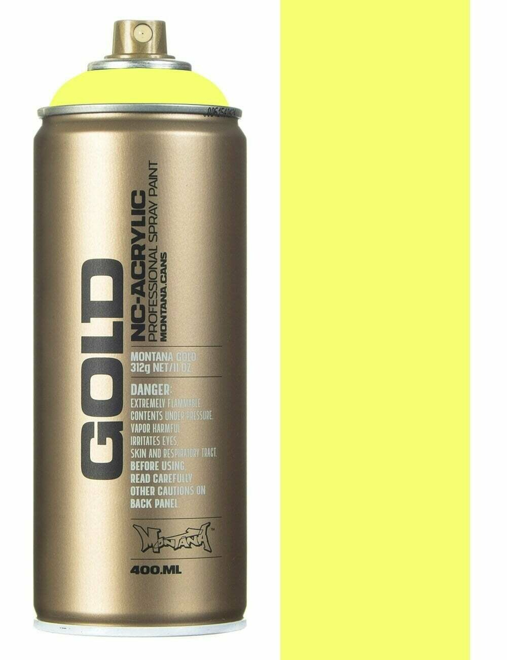 Montana; Gold Acrylic Spray Color, Flash Yellow
