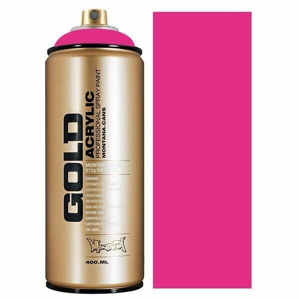 Montana; Gold Acrylic Spray Color, Gleaming Pink
