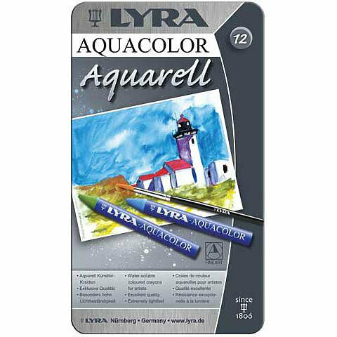 Lyra; Aquacolor Crayon Sets, 12-Color Set