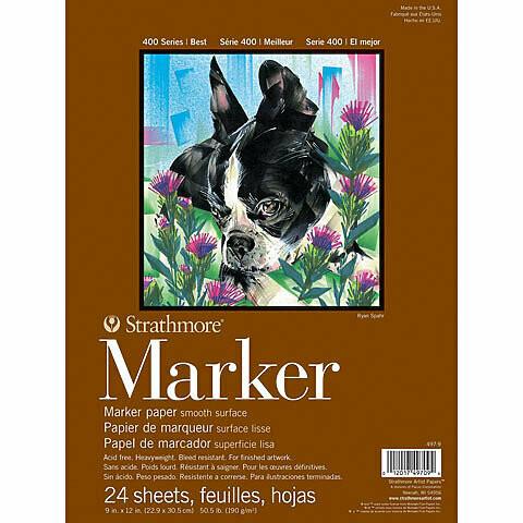 Strathmore; Marker 400 9X12 Tape-Bound Sketchbook 24 Sheets