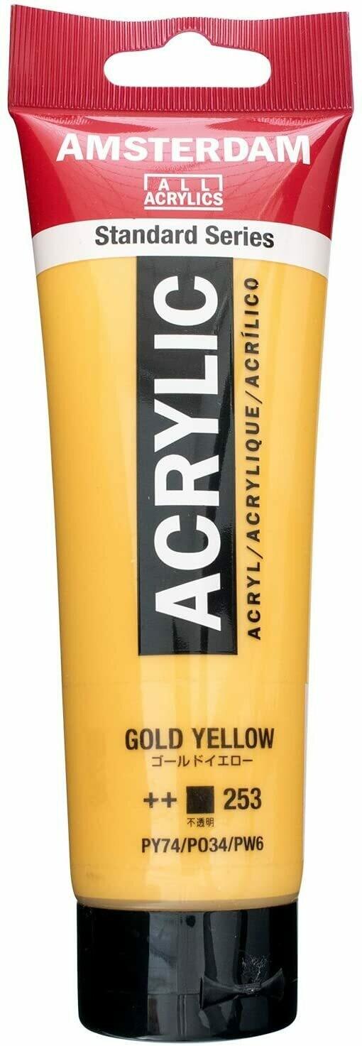 Amsterdam; Standard Acrylics, 120ml Tubes, Gold Yellow