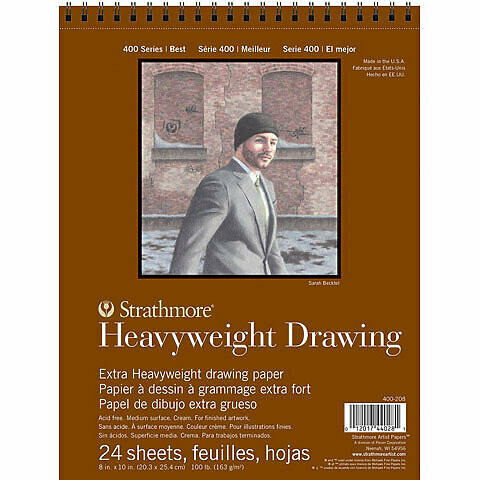Strathmore; Draw Heavyweight 400 9X12 Tape-Bound Sketchbook 24 Sheets