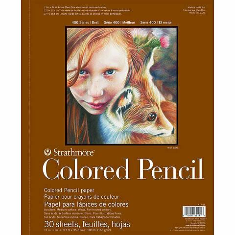 Strathmore; Color Pencil 400 9X12 Sprial Bound Sketchbook 30 Sheets