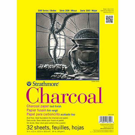 Strathmore; Charcoal 300 9X12 Tape-Bound Sketchbook 32 Sheets