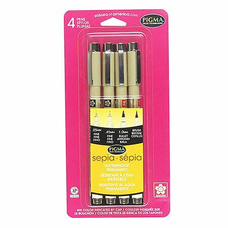 Sakura; Micron (Pigma) 4-Pen Set, 4 Nib Sizes