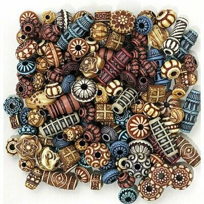 Creativity Street; Exotic Beads - 4 Oz.