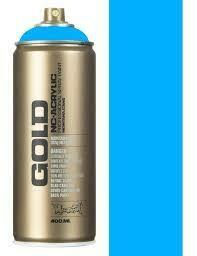 Montana; Gold Acrylic Spray Color, Flame Blue