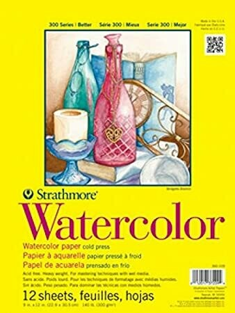"Strathmore; Watercolor Paper Pads 300 Series, Tape-Bound, 11"" x 15"""