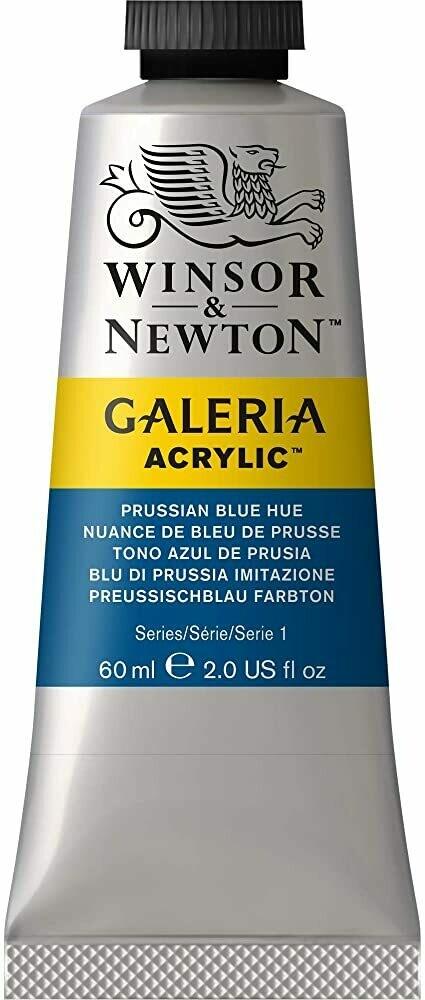 Winsor & Newton Galeria Acrylics, 60Ml Tubes, Prussian Blue Hue