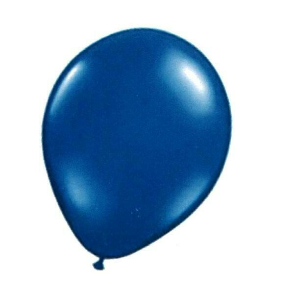 "Color Fantastik; 10Ct 12""Helium Quality Balloons, Pearlised Blue"