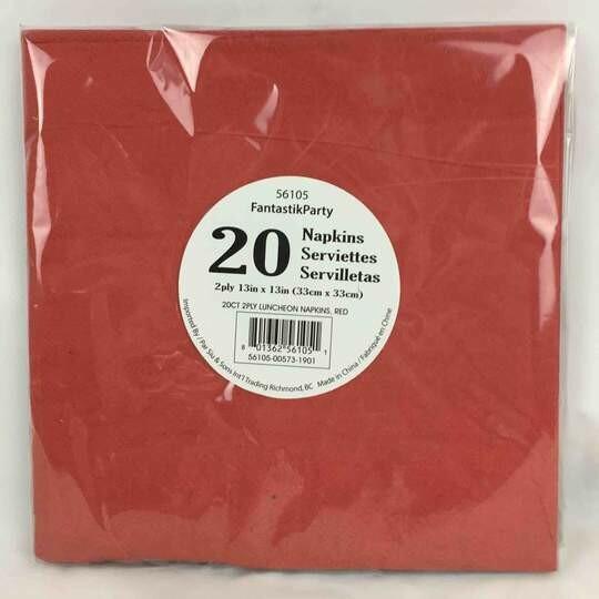 Color Fantastik; 20/Pk 2Ply Luncheon Napkins Red