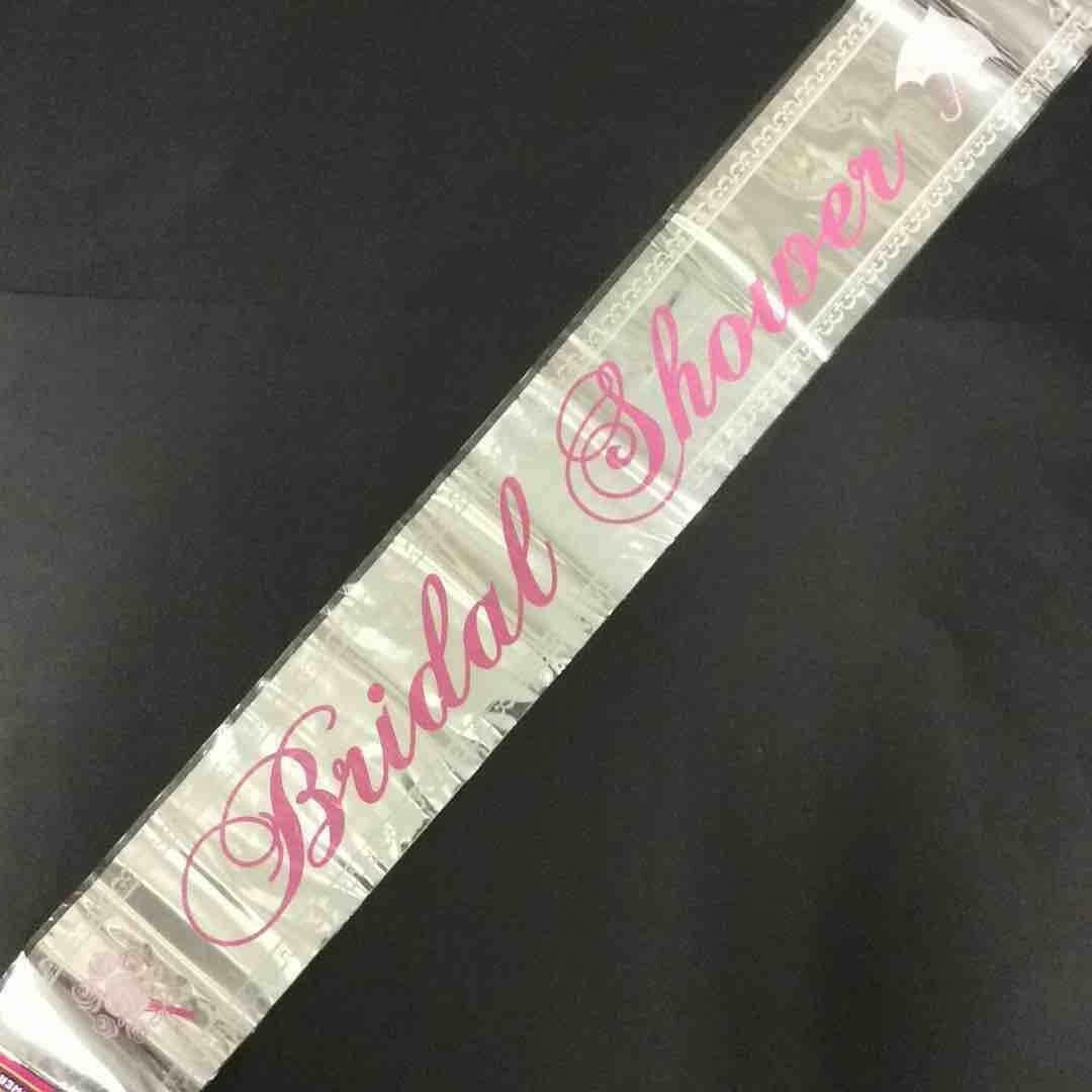 Color Fantastik; 12Ft Foil Banner, Bridal Shower