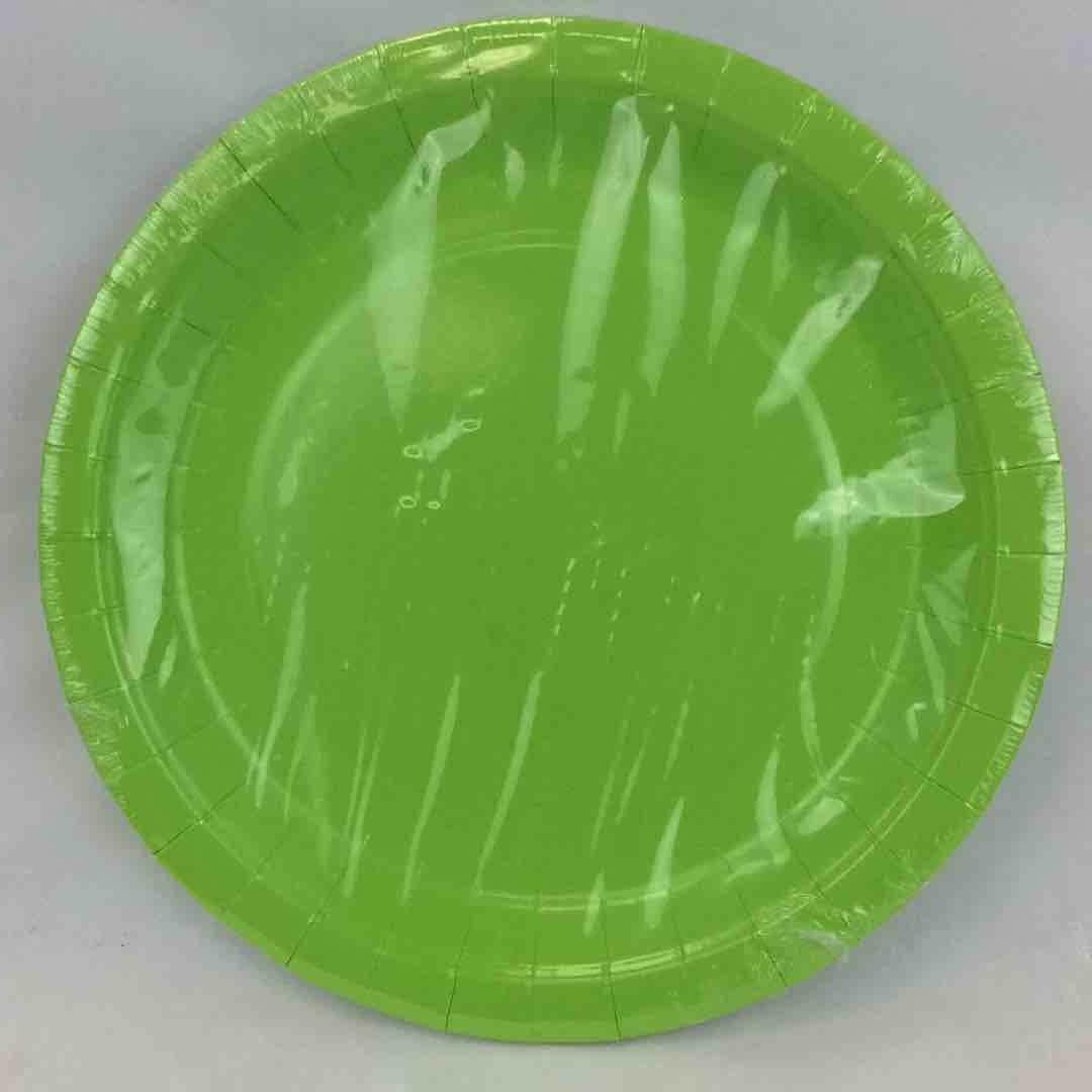 "Color Fantastik; 16Ct 9""Paper Plates, Apple Green"