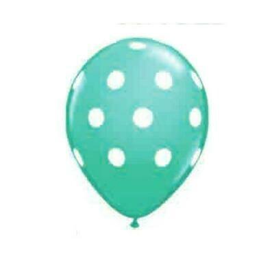 Color Fantastik; Polka Dot Apple Green 12Pk Balloons