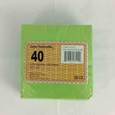 Color Fantastik; 30/Pk 2Ply Beverage Napkins, Green