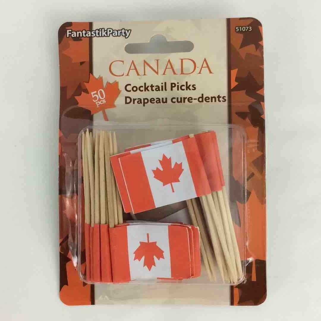 Color Fantastic; 50Ct Cocktail Pick, Canada Flag