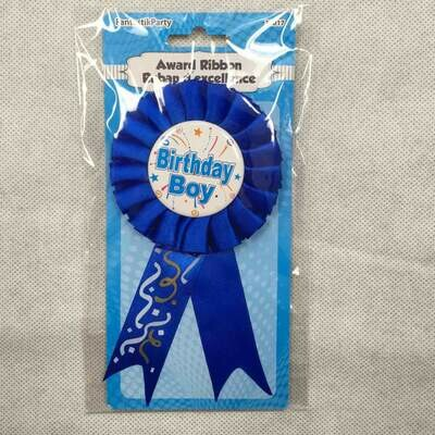 Color Fantastic; Happy Birthday Award Ribbon, Boy