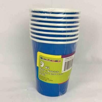 Color Fantastik; +8Ct 9Oz Paper Cups, Royal Blue