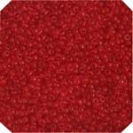 John Bead; Czech Seedbead Approx 22G Vial 10/0 Transparent Light Red