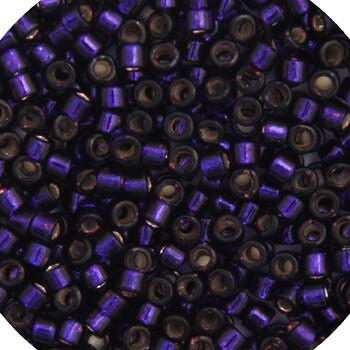 John Bead; Delica 11/0 Rd Dark Purple Silver Lined-Dyed
