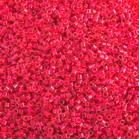 John Bead; Delica 11/0 RD Poppy Red Luminous Neon Color