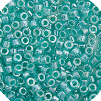 John Bead; Delica 11/0 RD Light Crystal Green Aqua Ceylon