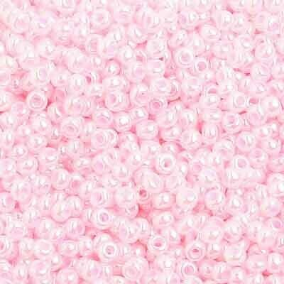 John Bead; Czech Seed Bead 10/0 Pearl Dyed Pale Pink