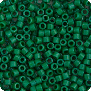 JohnBead; Delica 11/0 RD Green Jade Opaque Dyed